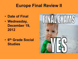 Europe Final Review II - Mrs. Curtis's Social Studies Classroom