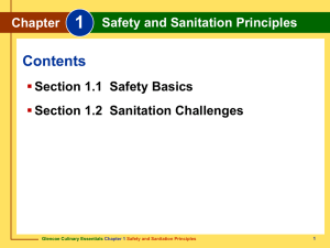 Chapter 1 Safety and Sanitation Principles