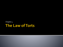The Law of Torts - Galena Park ISD Moodle