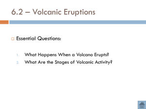 Volcanic Eruption Notes