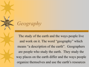 Geography Notes PowerPoint