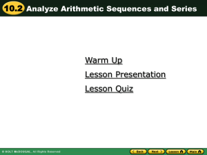 Sequence Powerpoint #2