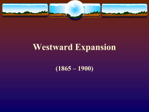 Westward Expansion - Montgomery County Schools