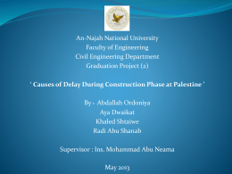 ******* 1 - An-Najah National University