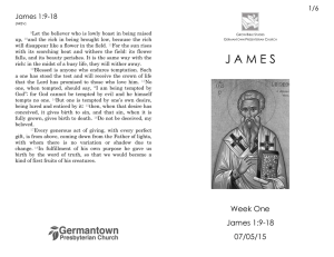 Week One: James 1:9-18 - Germantown Presbyterian Church