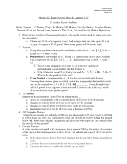 Final Exam Review Problems sheet 1 no solutions
