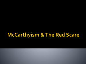 McCarthyism & The Red Scare