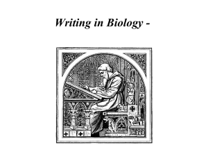 Writing in Biology - Materials and Methods
