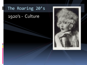 1920s Culture Powerpoint
