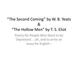 the hollow men by t s elliot essay The hollow men by ts eliot home / poetry / the hollow men / summary the hollow men / summary shmoop premium summary shmoop premium shmoop premium.