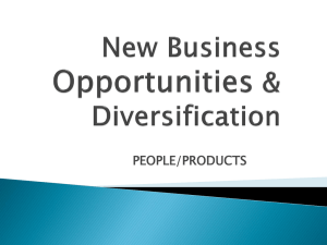 New Business Opportunities & Diversification