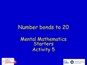 Number bonds to 20 - Teachnet UK-home