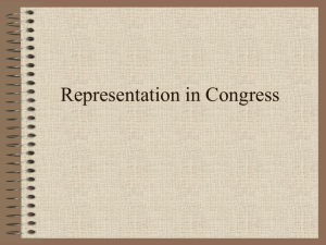 Theories of Representation (Delegate v. Trustee)