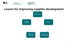 Levers for improving supplier development