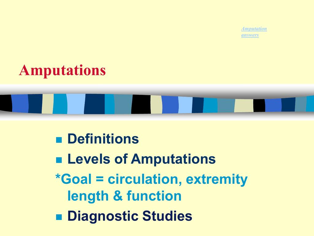 Amputations osteolyeliis