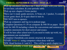 Chemistry 4.1 notes conversion