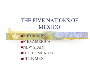 THE FIVE NATIONS OF MEXICO