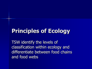 PPT: Principles of Ecology
