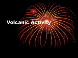 Volcanic Activity - Moyle Park College
