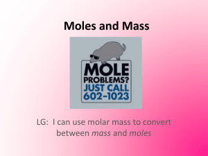 Lesson_3 Moles and Mass