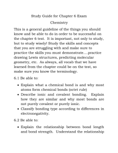 Study Guide for Chapter 6 Exam Chemistry This is a general