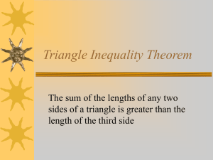 5.5Triangle Inequality Theorem