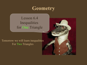 6.4 Inequalities for One Triangle