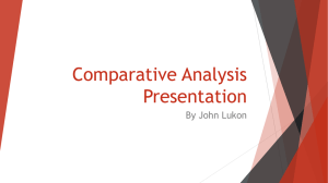 Comparative Analysis Presentation