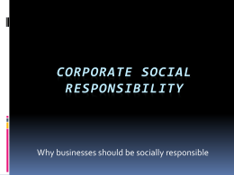 Corporate Social Responsibility PP project