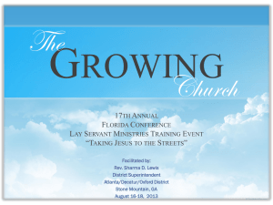 The Growing Church - Florida Conference Lay Servant Ministries