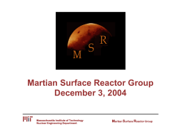 Nuclear Reactors for The Moon and Mars