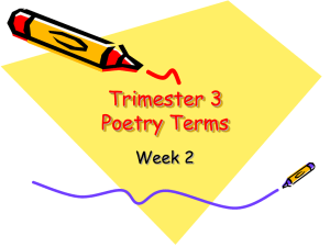 Poetry Terms Week 2 - Merrillville Community School