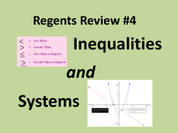 Regents Review #4 - Roslyn Public Schools
