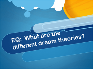 EQ: What are the different dream theories?