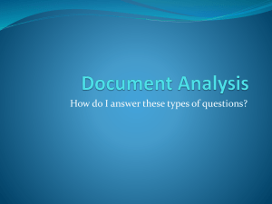 How to answer Document Analysis questions