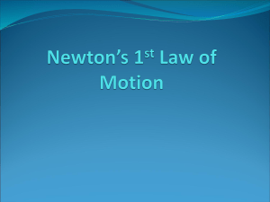 Newton's 1st Law of Motion Presentation