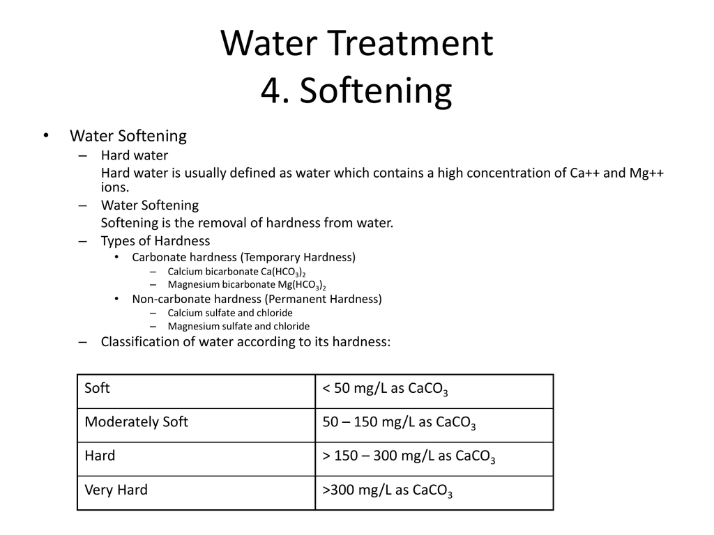 temporary hardness of water definition