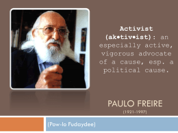 analysis of paulo freire the banking concept of education and richard rodriguez the achievement of d The banking concept of education and the achievement of desire education is a topic that can be explored in many ways education is looked at in depth by both richard rodriguez in his essay, the achievement of desire, and by paulo freire in his essay, the 'banking' concept of education.