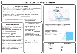 Physics Revision Sheet 2