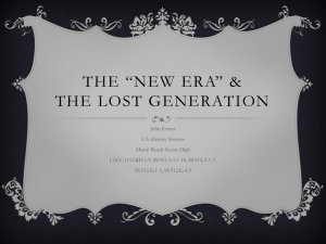 The *New Era* & The Lost Generation