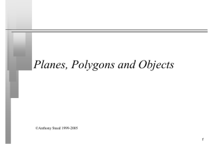 Planes and Polygons - UCL Computer Science