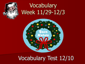 Vocabulary Week 11/29-12/3