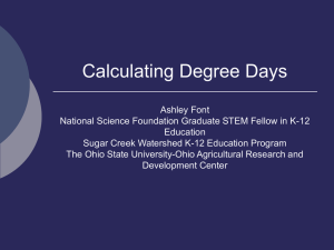 Calculating Degree Days - OARDC