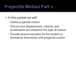 Projectile Motion Part 1