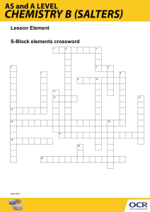 S-Block elements crossword