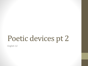 Poetic devices pt 2