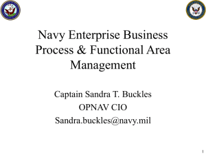 Functional Area Management & Navy Business Process
