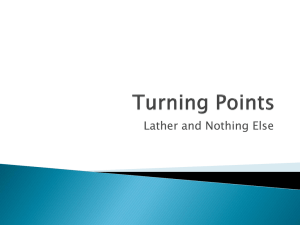 Turning Points – Lather and Nothing Else