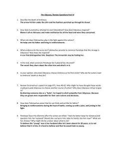 The Odyssey Part IV Review Questions Answers