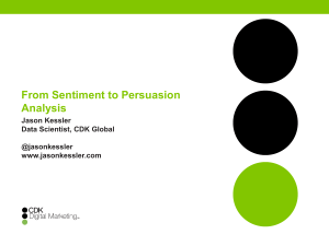 From Sentiment to Persuasion Analysis